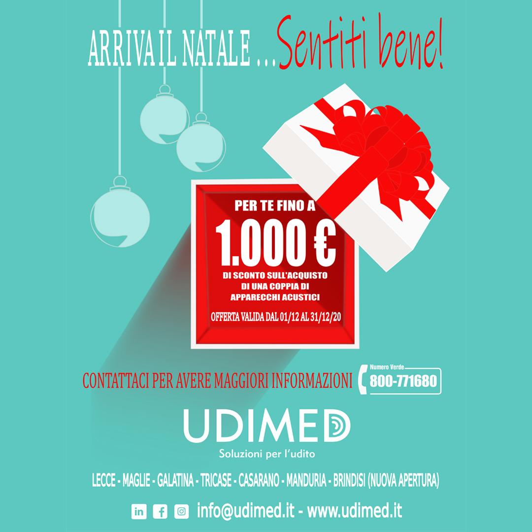Promo Natale 2020: Sentiti bene con Udimed!