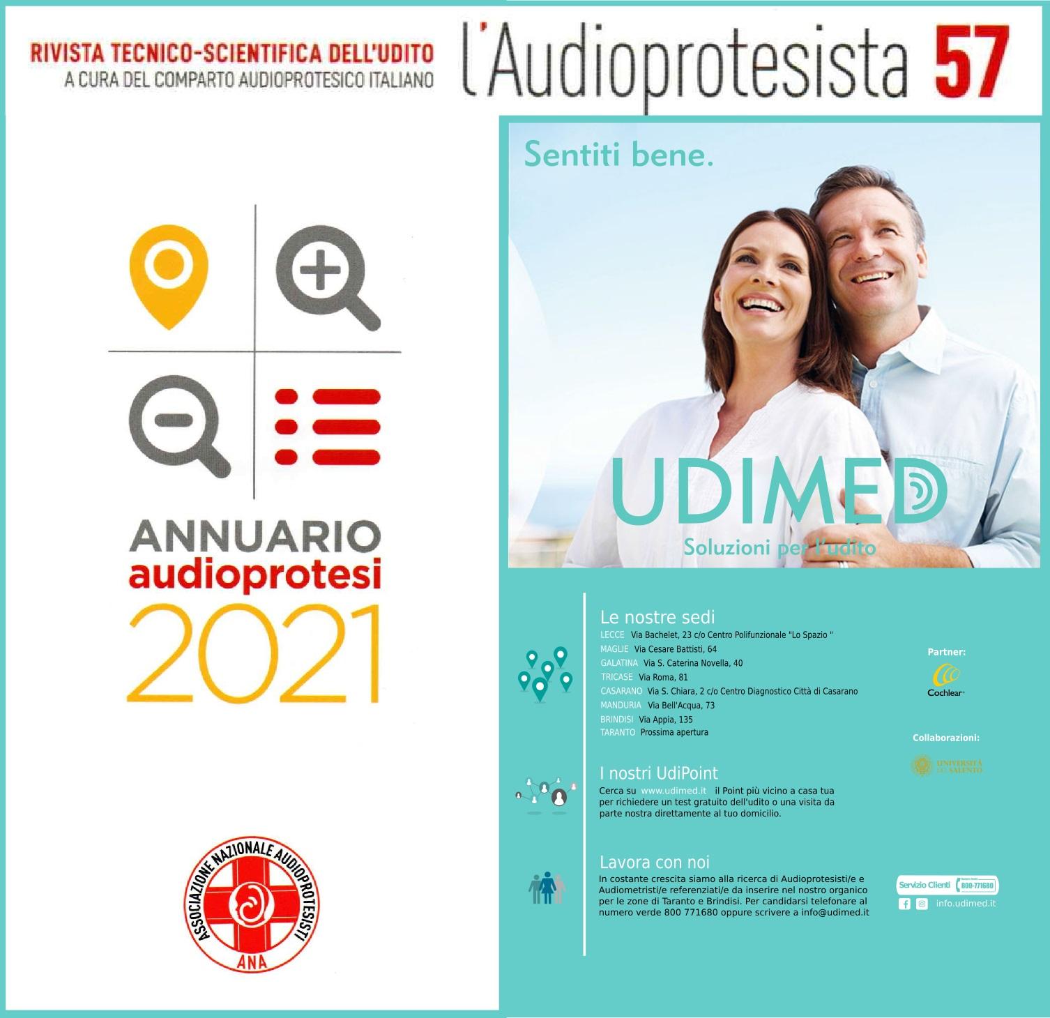 ANNUARIO 2021 AUDIOPROTESISTI